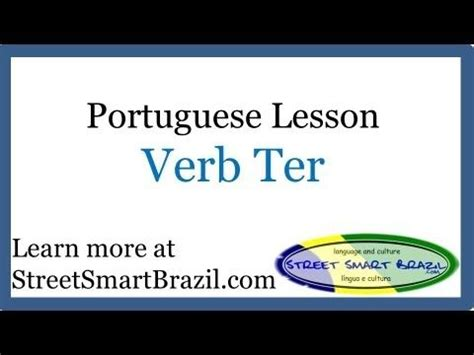 This Portuguese lesson is about the verb Ter (To Have)
