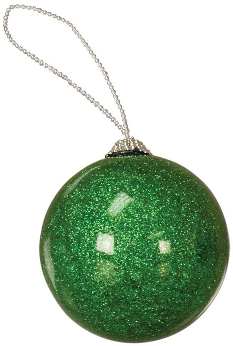 Personalized Acrylic Glitter Round Ornaments - Crystal