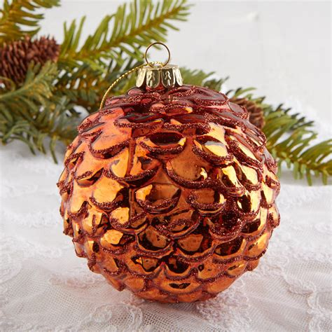 Rust Round Glass Ornament - Christmas Ornaments