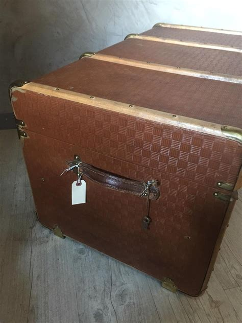 20th Century, French Wooden Travel Trunk, 1930s For Sale