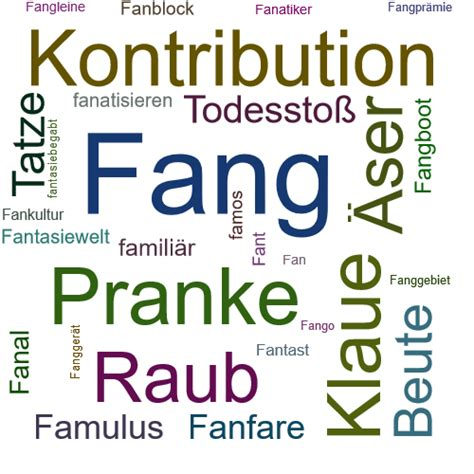FANG Synonym-Lexikothek • ein anderes Wort für Fang